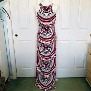 Dresses & Skirts - Tribal printed maxi dress with side slits